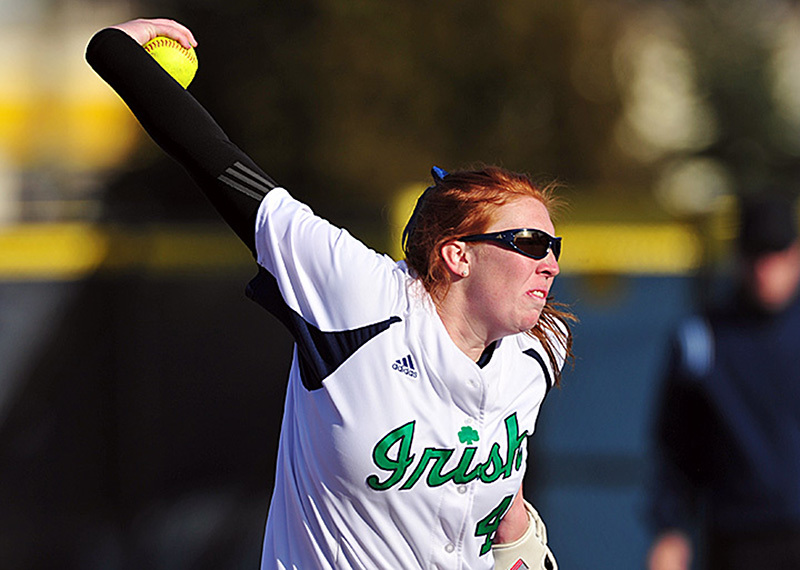 Laura Winter became the sixth pitcher in Notre Dame history to surpass 700 career strikeouts Tuesday at Michigan State