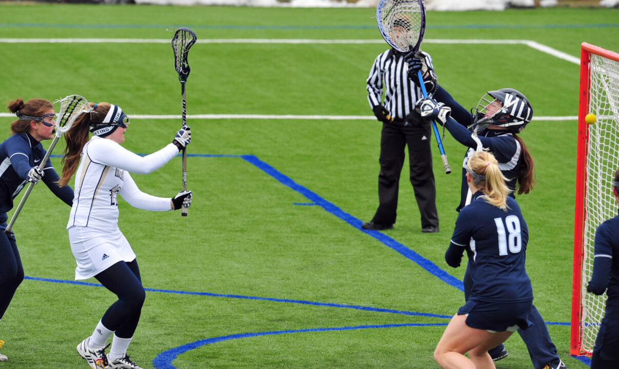 Junior Lauren Sullivan had four goals Wednesday night against No. 4/4 Northwestern.