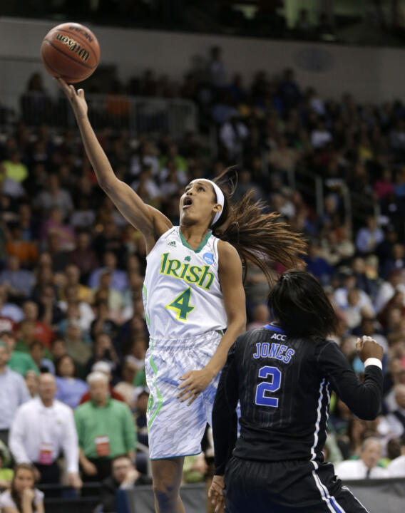 Notre Dame senior co-captain Skylar Diggins was selected for the second consecutive season as the recipient of the Nancy Lieberman Award, presented annually to the nation's top point guard.