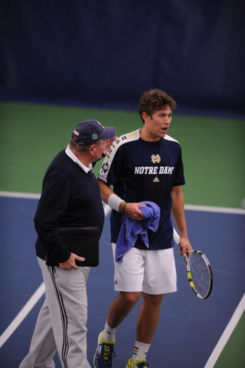 ITA Hall of Fame head coach Bobby Bayliss and senior Blas Moros will both be honored Saturday before the USF match.