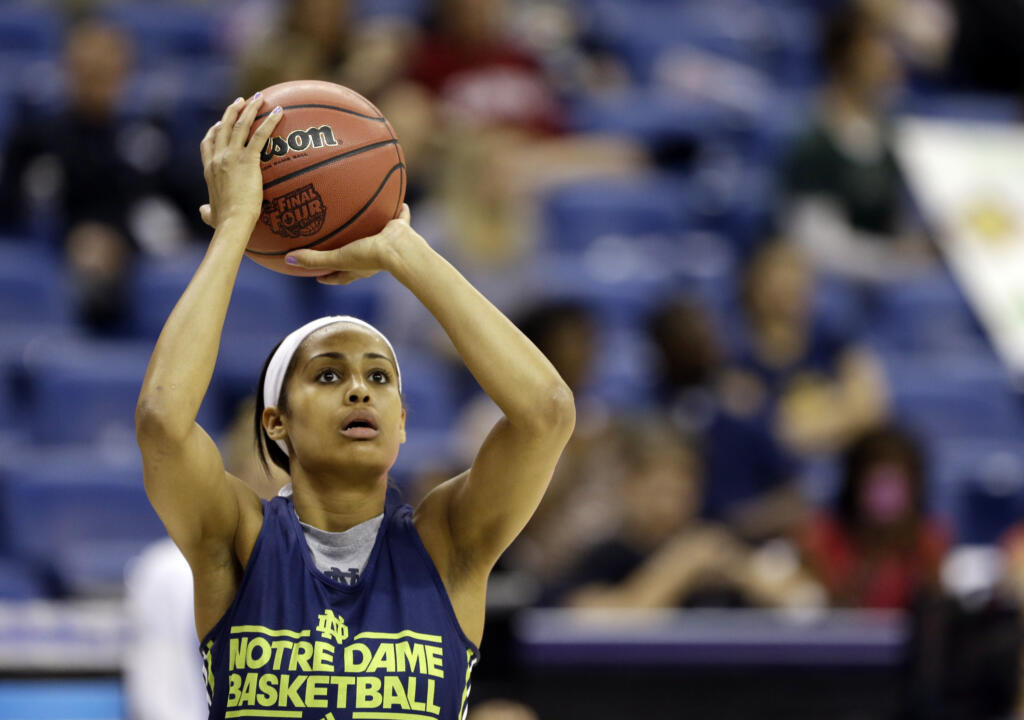 Skylar Diggins at Saturday's practice.