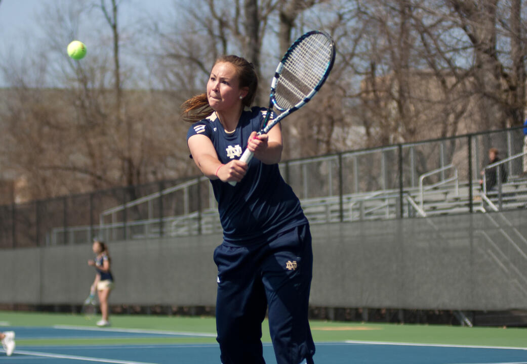 Senior Chrissie McGaffigan was a double-winner for Notre Dame in Sunday's match against Memphis
