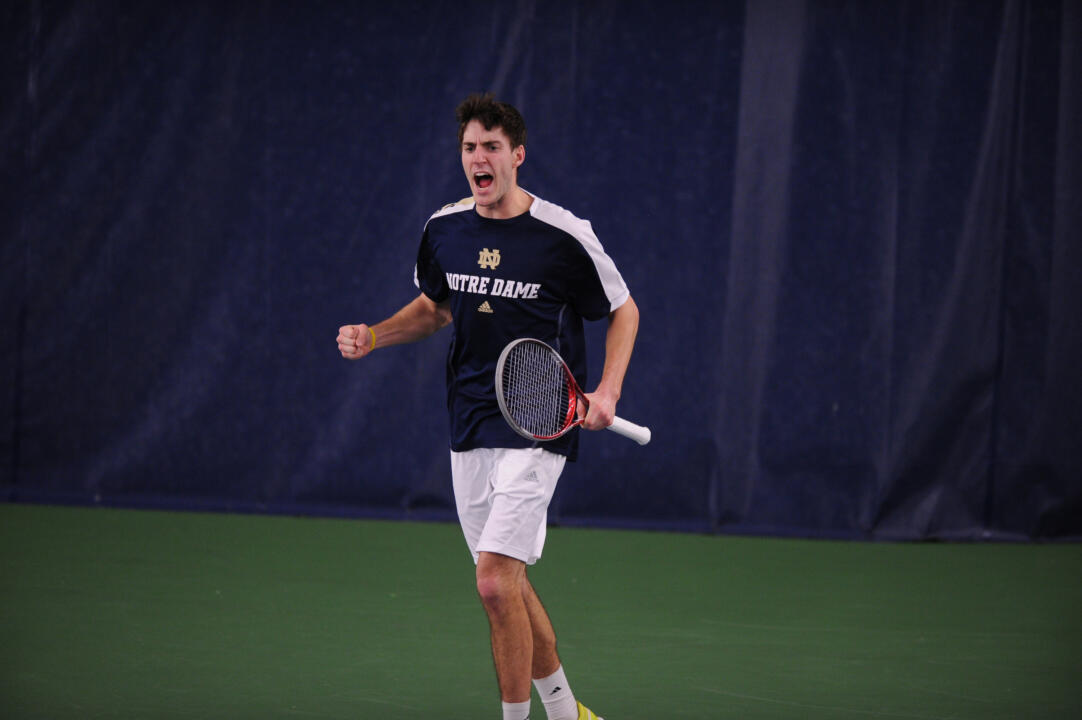 Junior Ryan Bandy clinched the doubles point at two with teammate Spencer Talmadge.