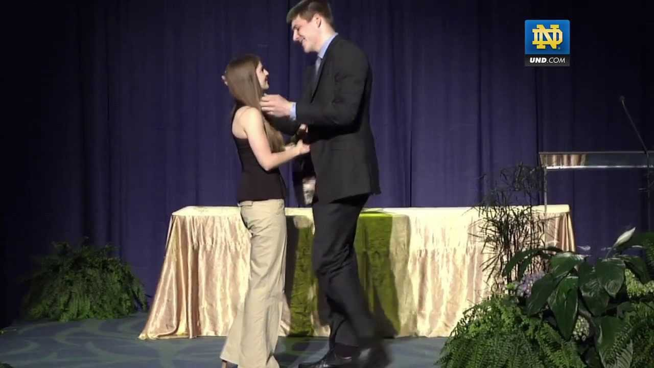 Jack Cooley Gets Engaged At Evening With Notre Dame Basketball