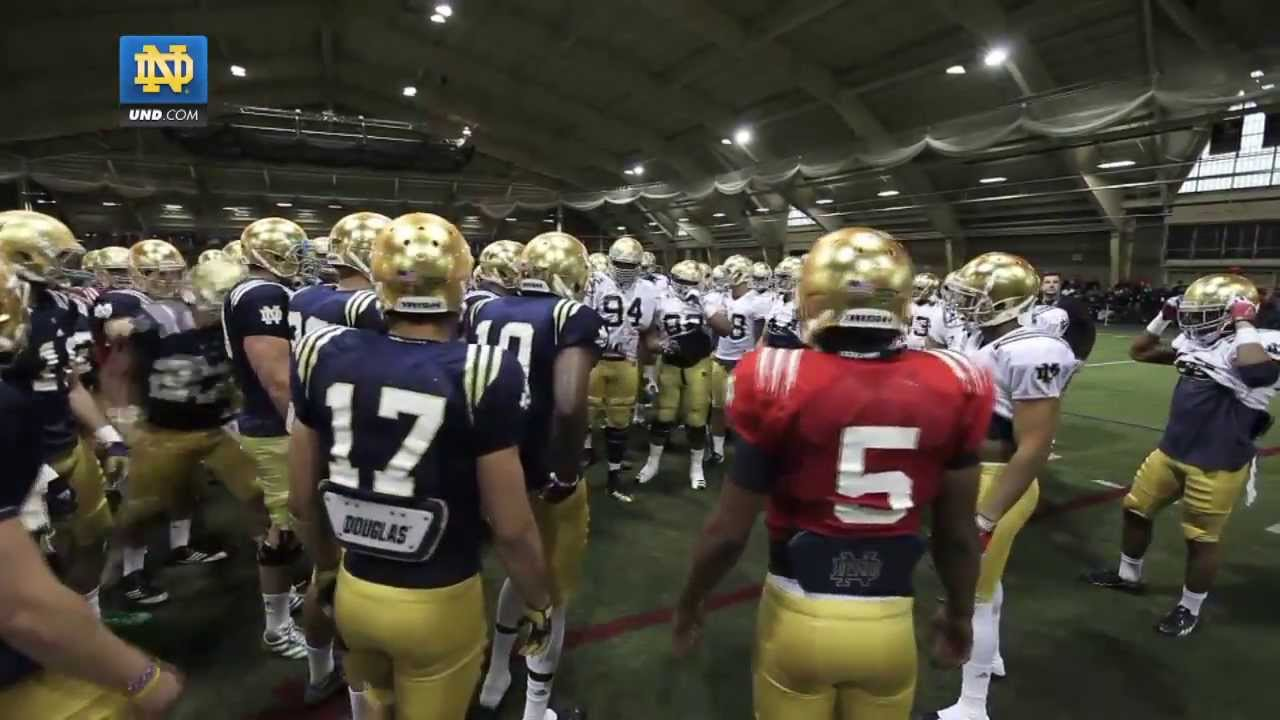 Notre Dame Football Spring Practice Update - April 13, 2013