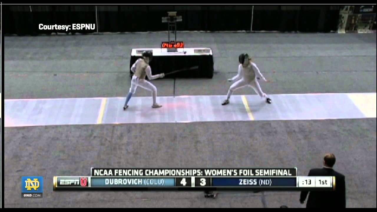 Madison Zeiss, All-American - Notre Dame Fencing