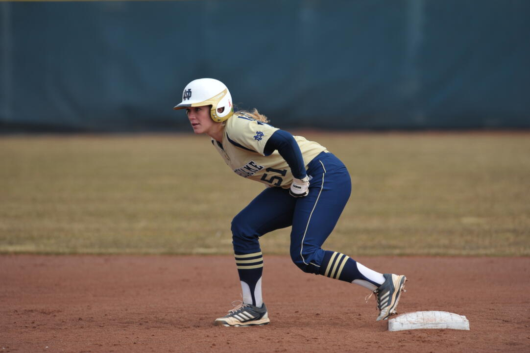 Cassidy Whidden drove in two runs on a double to clinch Notre Dame's 9-1 win over DePaul Friday
