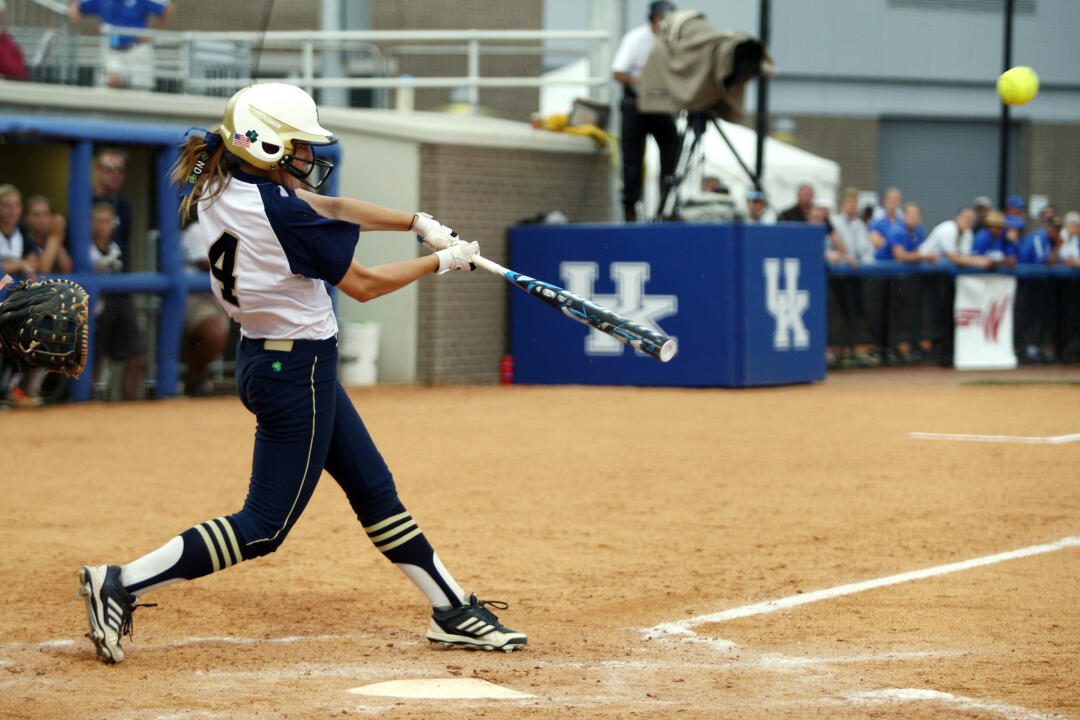 Lauren Stuhr had four hits during Notre Dame's two games in Lexington Regional play