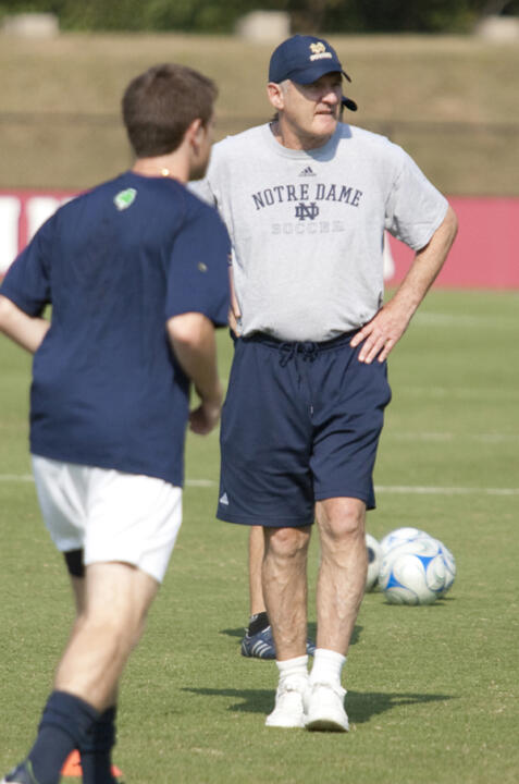 Head coach Bobby Clark and the Fighting Irish have an 11-game ACC schedule.