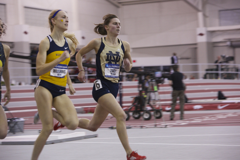 Notre Dame graduate Rebecca Tracy was an All-American on the track and in the classroom in 2013.