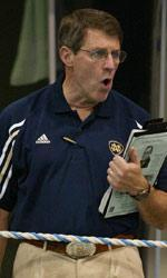 Veteran Notre Dame men's swimming head coach Tim Welsh has led the Irish on a consistently-upward trajectory, particularly since 2004-05, with Notre Dame winning six BIG EAST titles in that span and sending a school-record nine swimmers (including four honorable mention All-Americans) to the 2013 NCAA Championships.