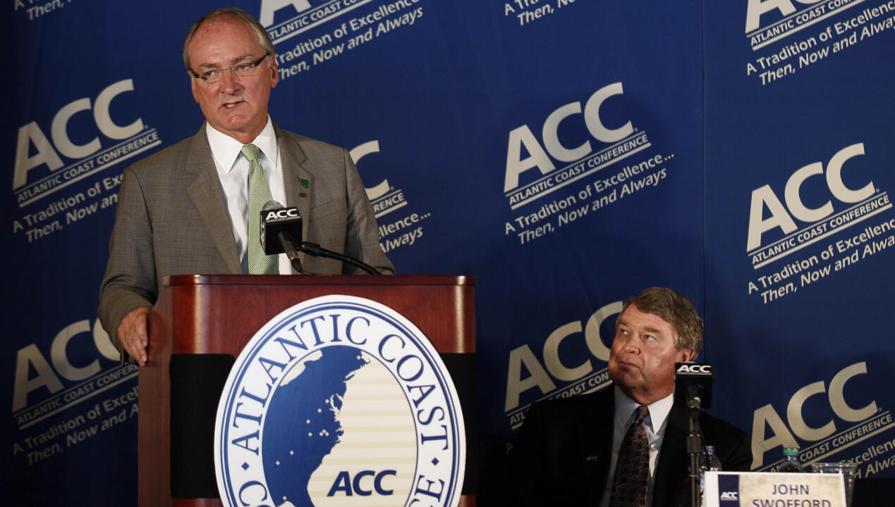 Sept. 12, 2012, was a red-letter day in Notre Dame athletics history as University vice president/director of athletics Jack Swarbrick and ACC commissioner John Swofford announced that the Fighting Irish would be joining the Atlantic Coast Conference. It was later announced that Notre Dame would begin play in the ACC in 2013-14, with Monday marking the University's official entry into the conference.