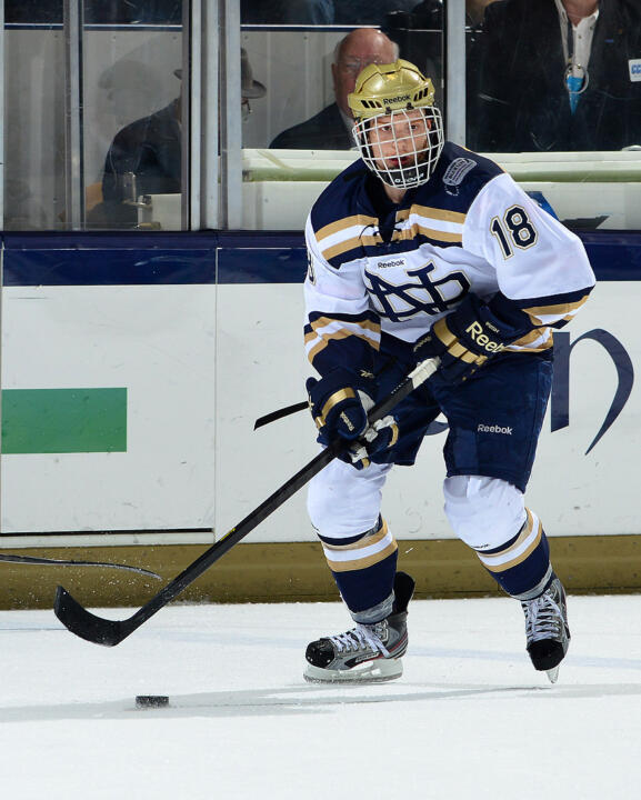 Irish senior center T.J. Tynan was named MVP of the 2012 Ice Breaker Tournament, won by Notre Dame in Oct. of 2012.