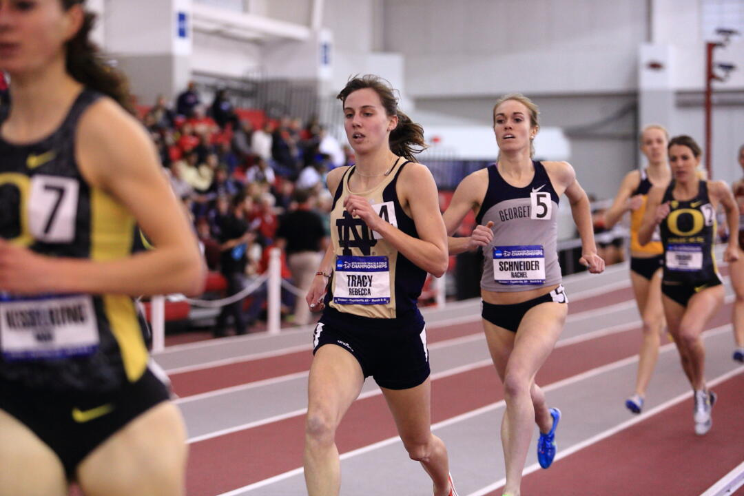 Graduate Rebecca Tracy earned academic honors from the USTFCCCA Thursday.