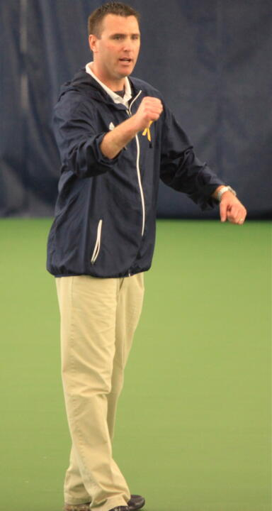 Notre Dame alum Ryan Sachire took over the men's tennis program July 1.