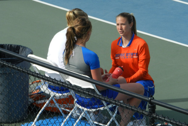 Catrina Thompson was named the ITA Mountain Region Assistant Coach of the Year last season (photo courtesy of Boise State Athletics)