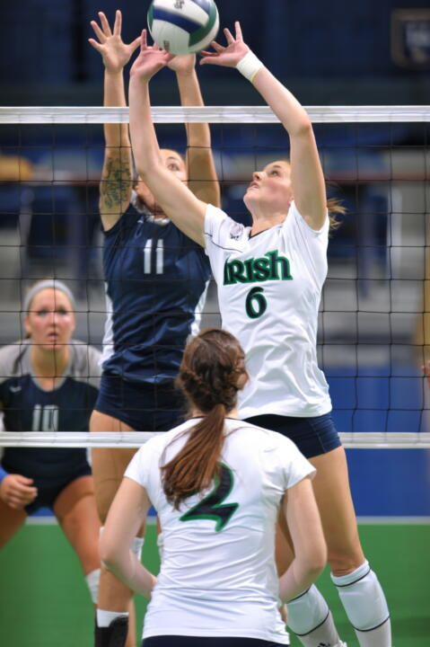Senior Maggie Brindock and the Irish kick off the season Friday against North Carolina.