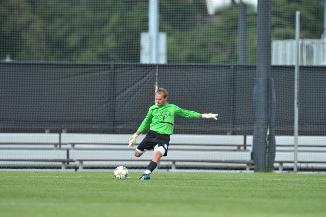 Senior Patrick Wall started in goal and made one save in 65 minutes of action.