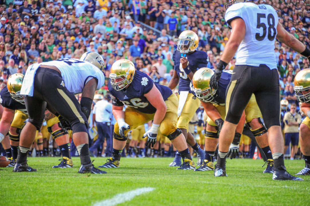 Chris Watt helped Notre Dame rush for 376 yards on 51 carries against Miami