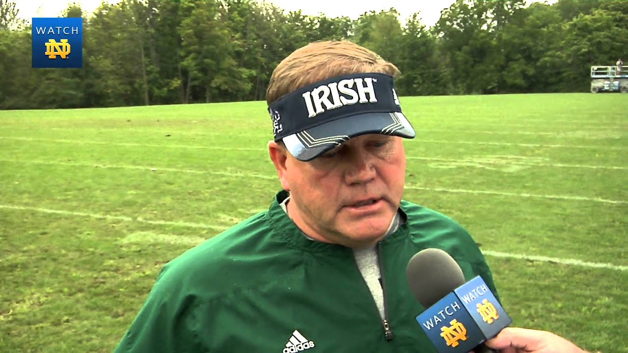 Coach Kelly Post Practice Interview - Aug. 8, 2013