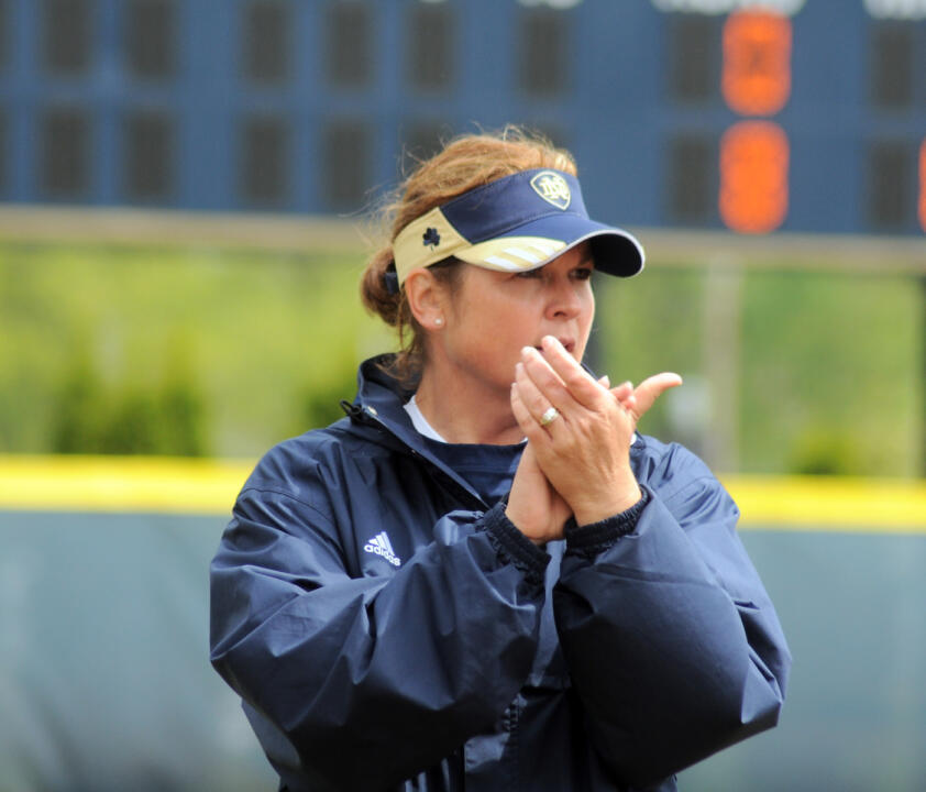 Notre Dame softball head coach Deanna Gumpf will be joined by other Irish coaches and athletics figures during the slow-pitch game against the Wounded Warrior Amputee Softball Team