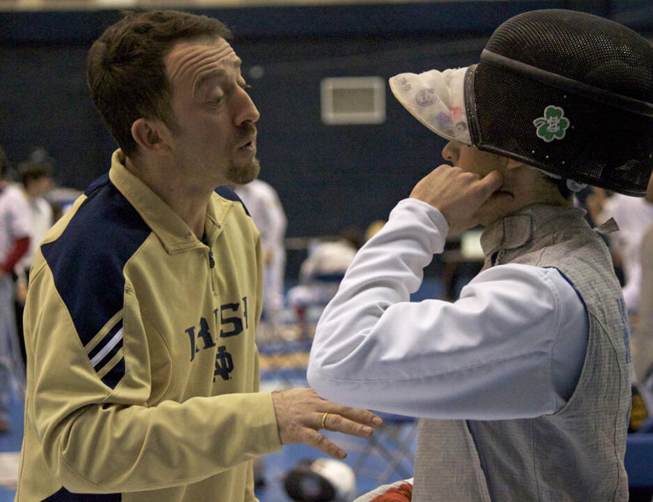 Gia Kvaratskhelia has been named Varsity Coach of the Year. Under his tutelage, Irish foilists have excelled both in NCAA competition and internationally.