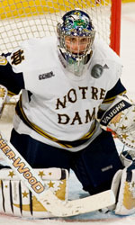 Former Irish goaltending standout - David Brown '07 - participated in the 2013 Notre Dame Hockey Pro Camp.
