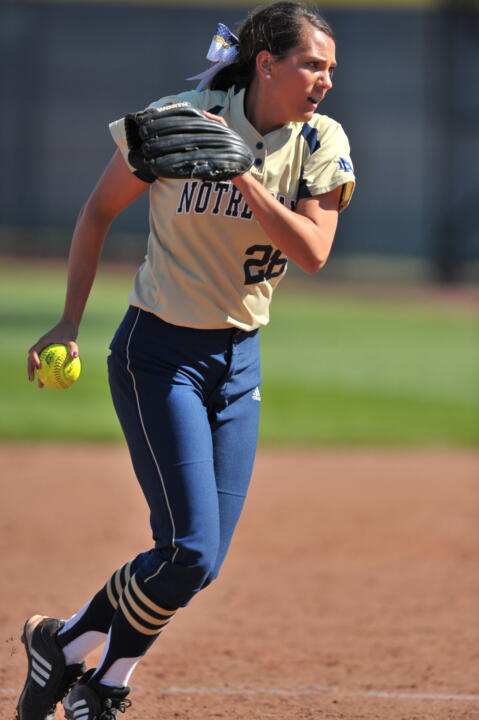 Brittany O'Donnell graduated in 2013 with the fourth-best winning percentage all-time (.769, 40-12) at Notre Dame