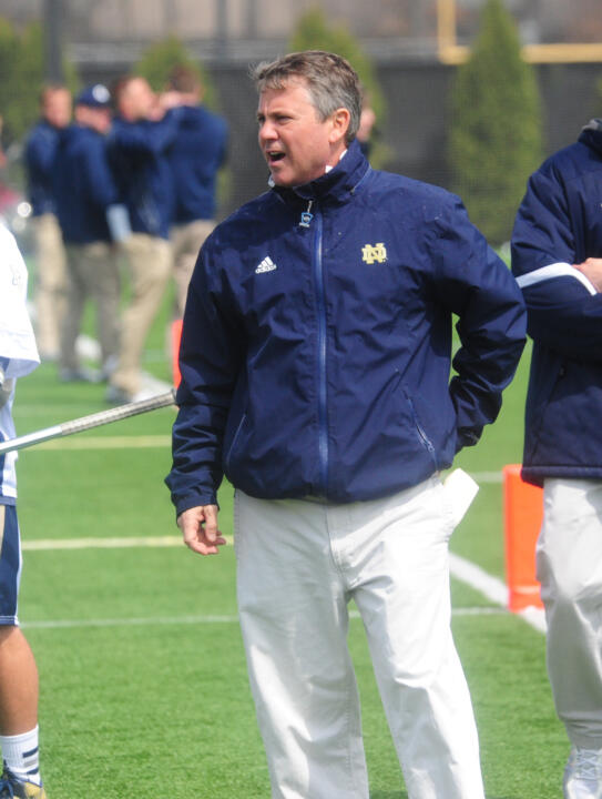 Head coach Kevin Corrigan is entering his 26th season at the helm of the Fighting Irish program.