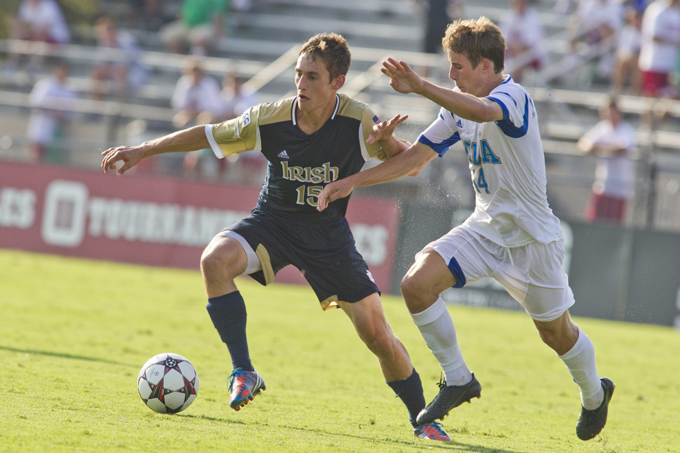 Sophomore midfielder Evan Panken put the Irish on the board in the 17th minute with his first career goal.