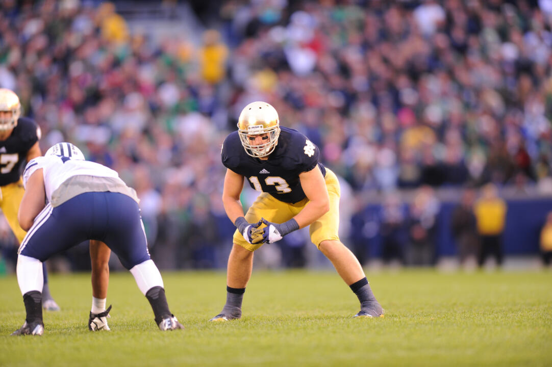 Former Notre Dame linebacker Danny Spond still remains an important presence on the sideline as a pseudo-coach to players who now hold down his position.