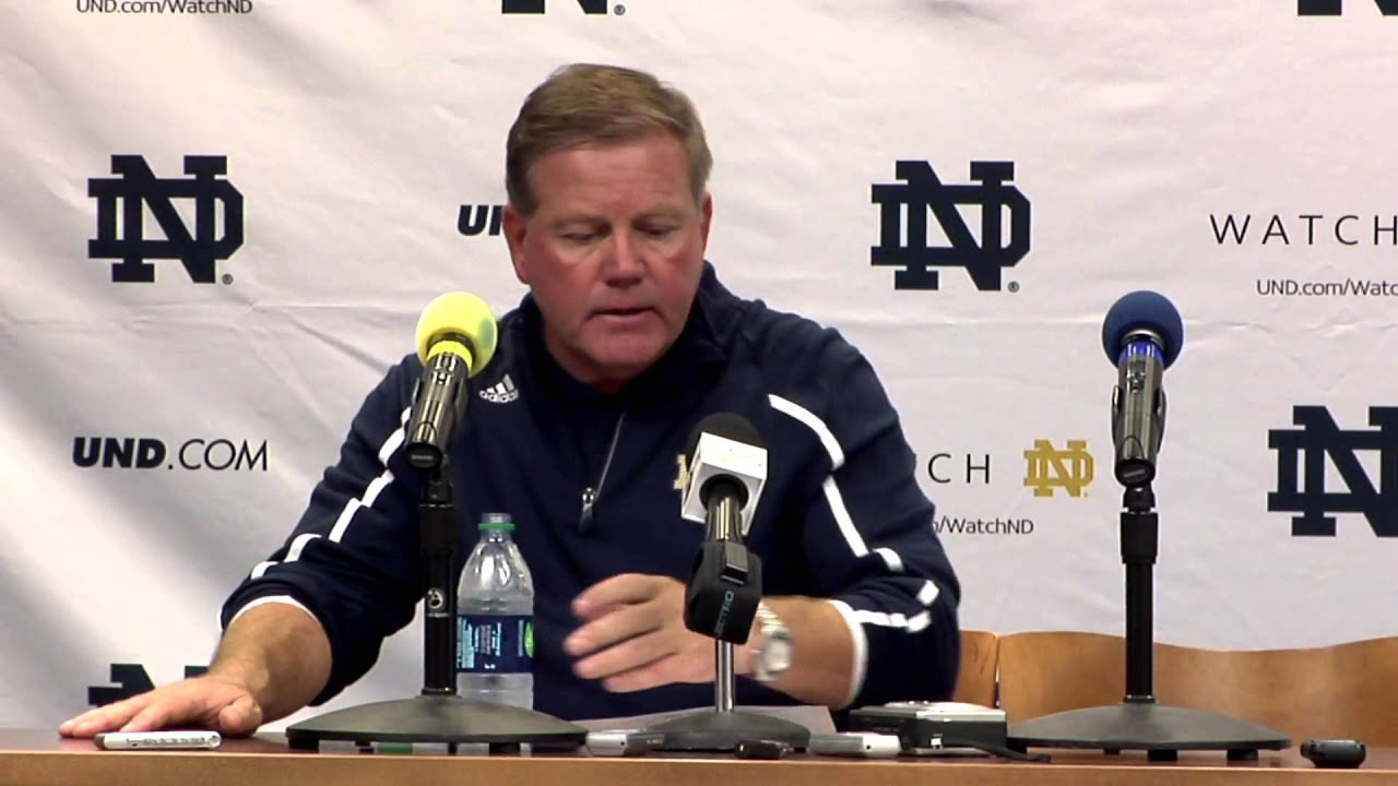 Coach Kelly Michigan Post Game Press Confernece
