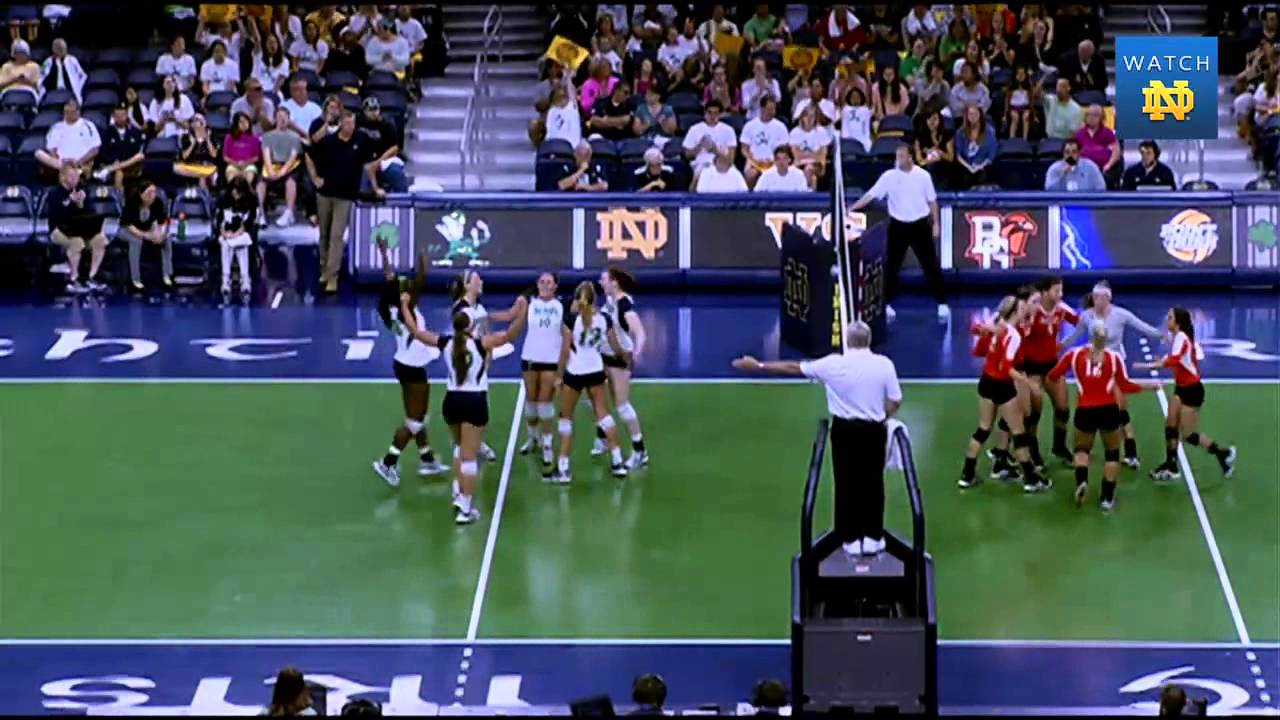 Notre Dame Volleyball Defeats Bowling Green