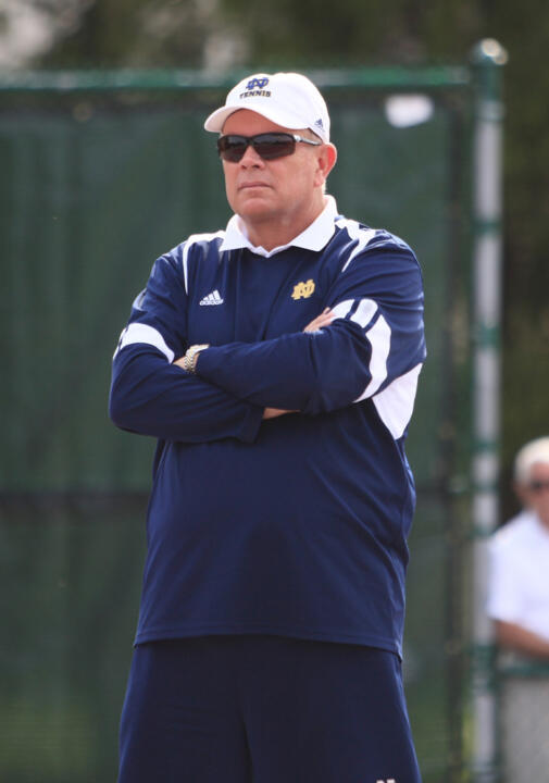 Former Notre Dame men's tennis head coach Bobby Bayliss.