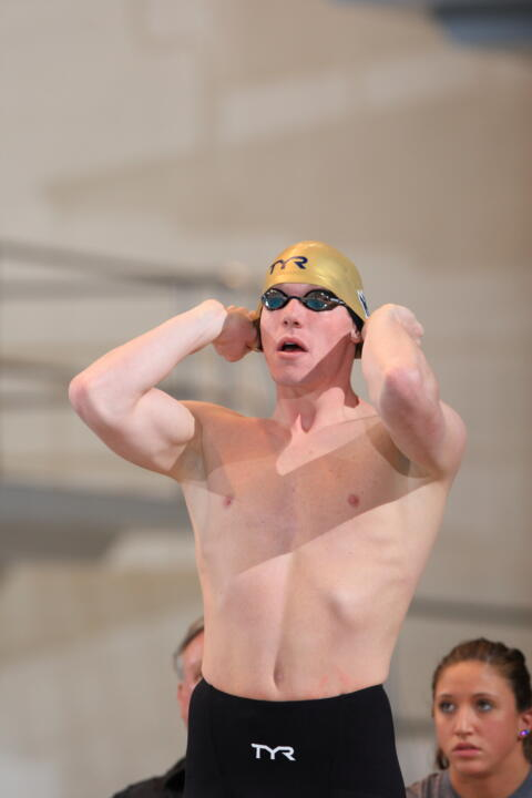 All-American Frank Dyer won a pair of events (200 and 500 free) in last season's meet with Purdue at the Rolfs Aquatic Center