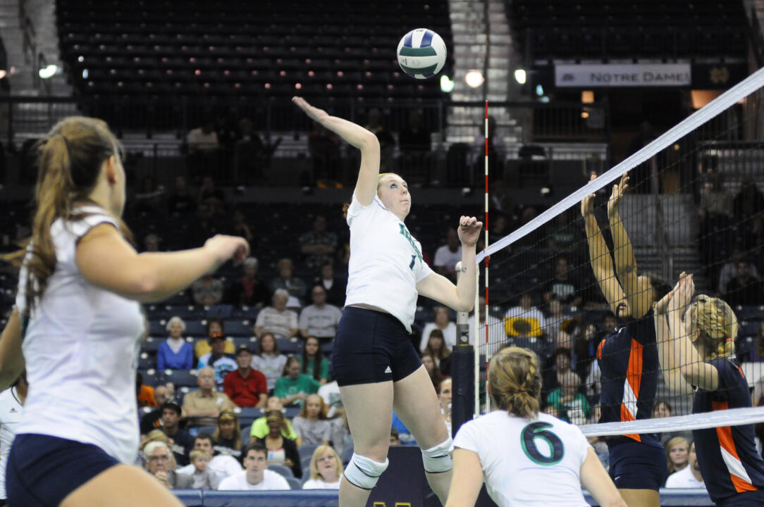 Senior Andie Olsen had nine kills in Friday night's loss to Clemson.