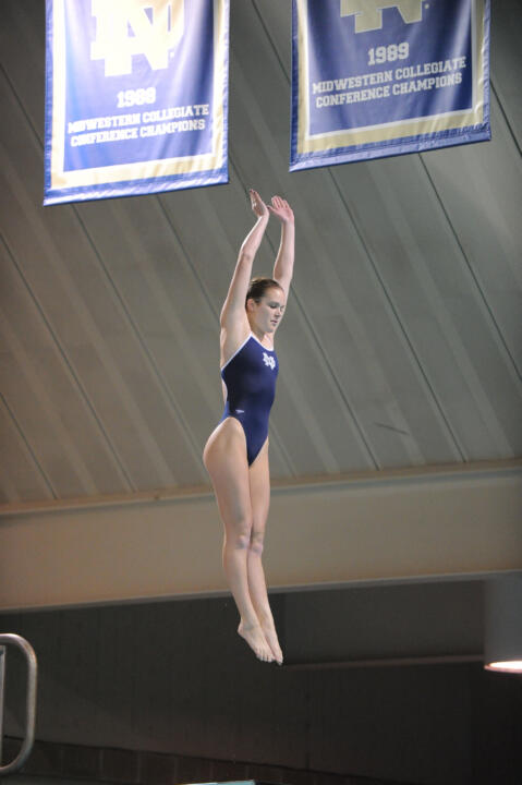 Sophomore Lindsey Streepey kicked off her season in style against Indiana and Auburn by winning the 3-meter dive.
