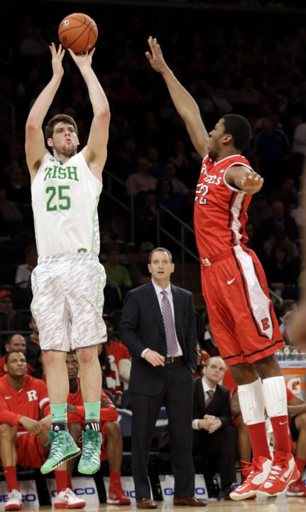 Tom Knight is one of four returning starters on the Irish roster in 2013-14.