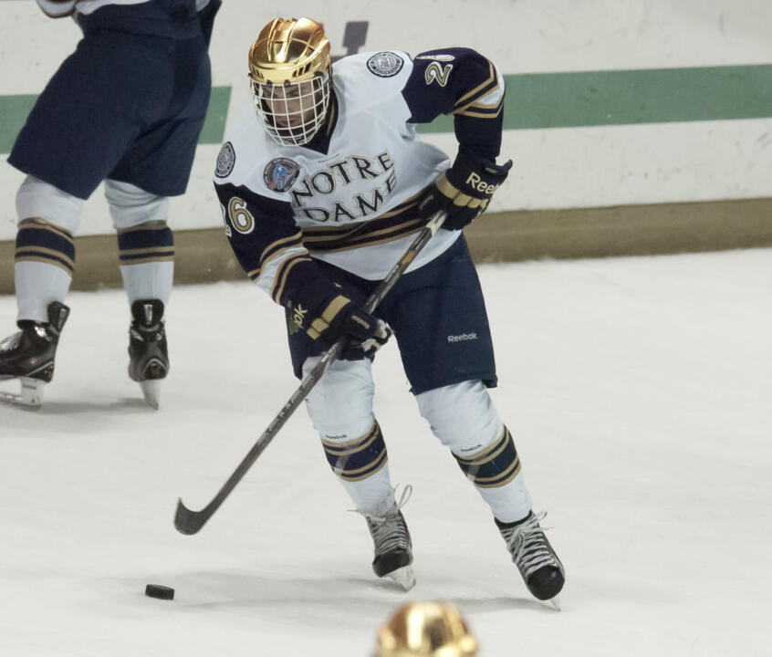 Sophomore center Steven Fogarty is one of three Irish players who will be returning home to their native Minnesota when Notre Dame plays Minnesota Duluth this weekend.