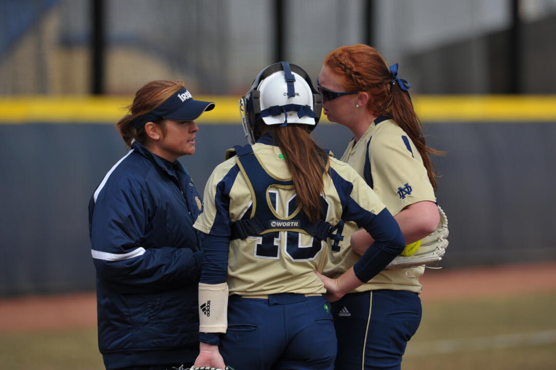 Notre Dame head coach Deanna Gumpf and volunteer assistant coach Brittany O'Donnell will lead the first-ever Irish Softball Pitching Academy during December
