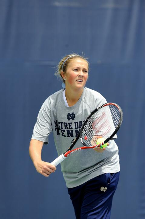 Junior Katherine White went undefeated in singles and doubles play this weekend.