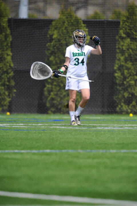 Graduate Adele Bruggeman was one of two Irish student-athletes to earn academic honors from the IWLCA.
