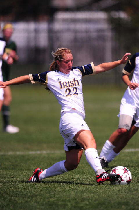 Sophomore forward Crystal Thomas had a second-half insurance goal in Notre Dame's 2-0 exhibition win over Virginia last year at the Notre Dame Practice Field.