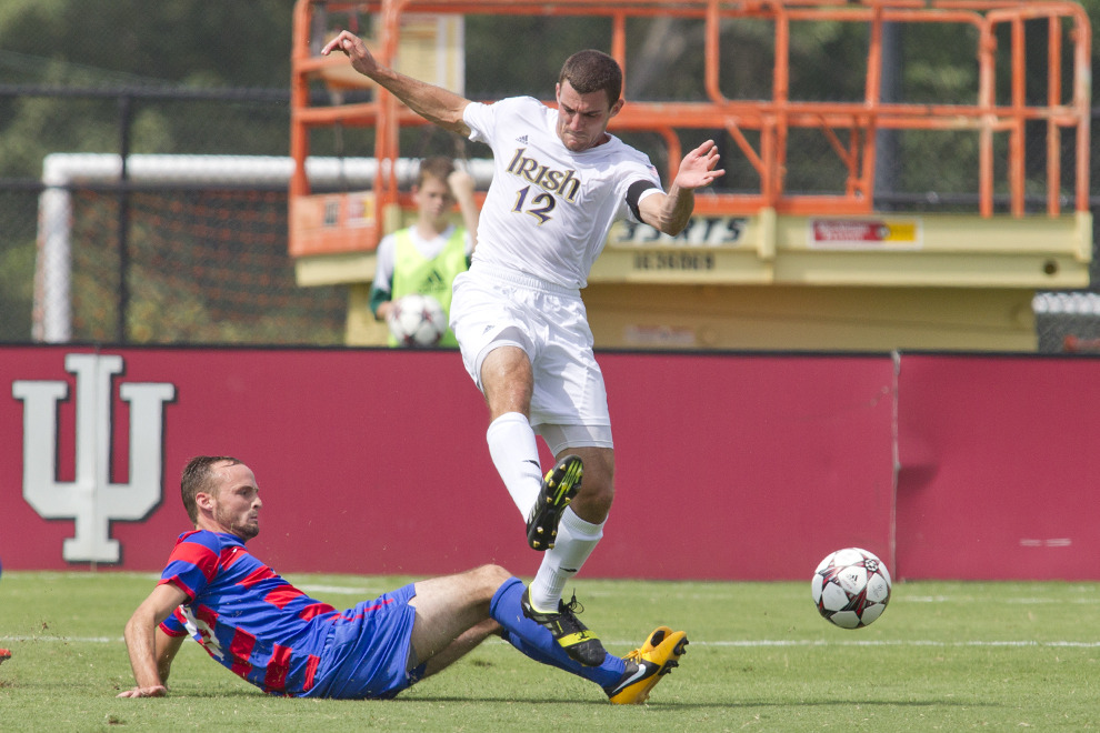 Central defender Andrew O'Malley and the Irish rank second among all ACC teams with a 0.52 goals-against average.