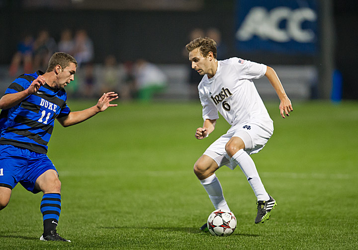 Junior left back Max Lachowecki gave the Irish a 1-0 lead in the 37th minute.