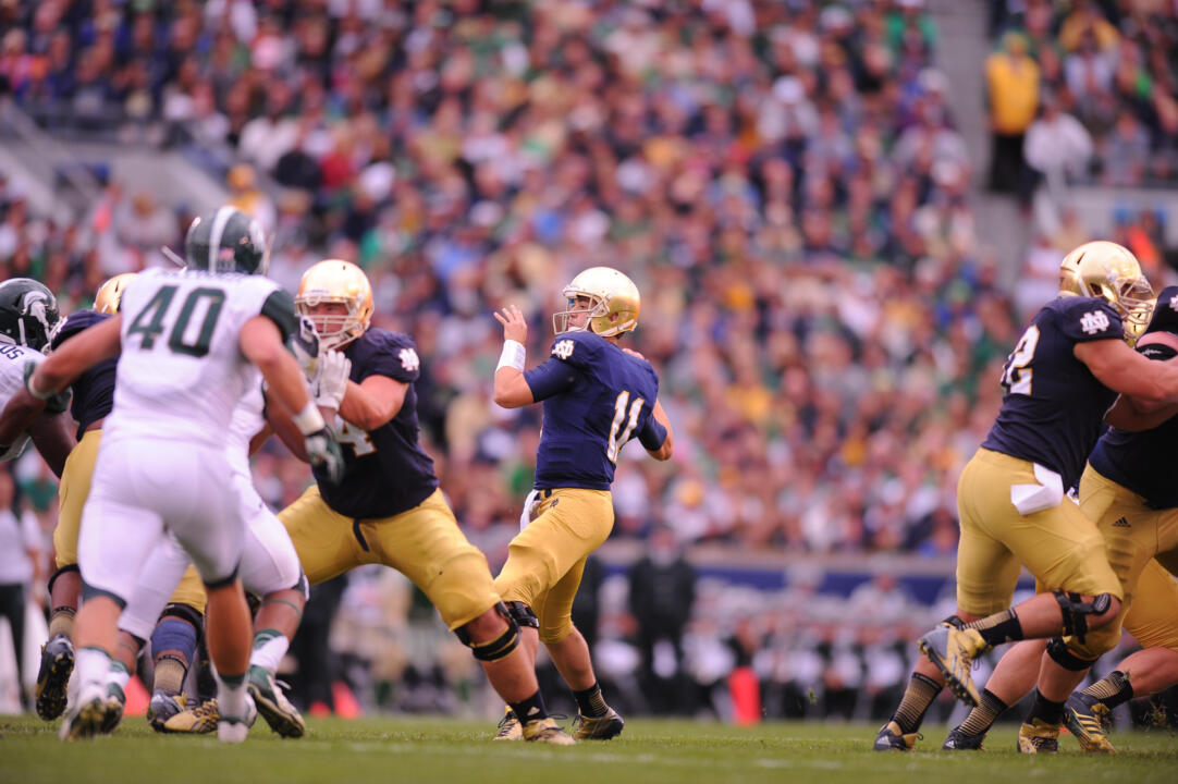 Notre Dame Senior QB Tommy Rees understands and embraces the pressures that come along with his position.