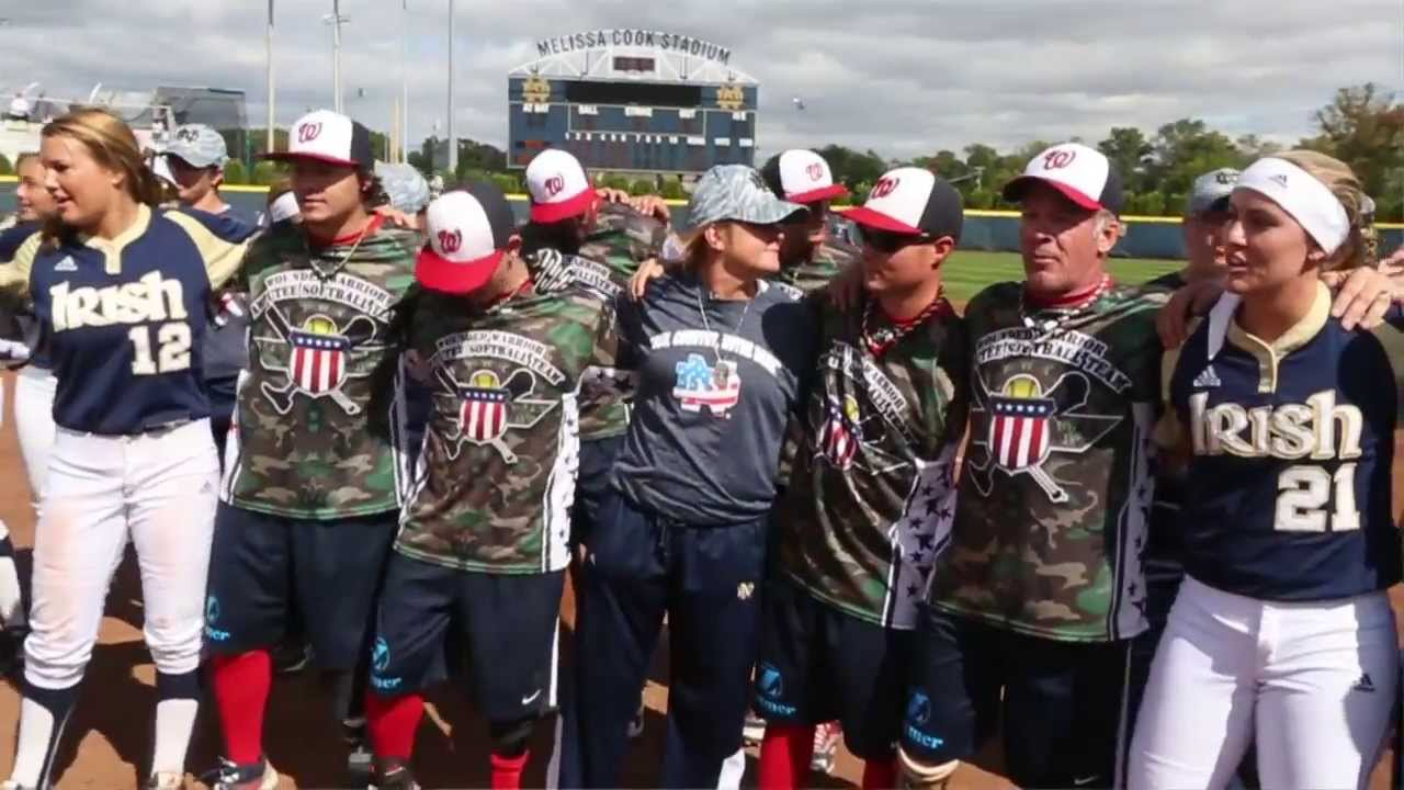 Irish in the ACC - Notre Dame Softball Welcomes Wounded Warriors