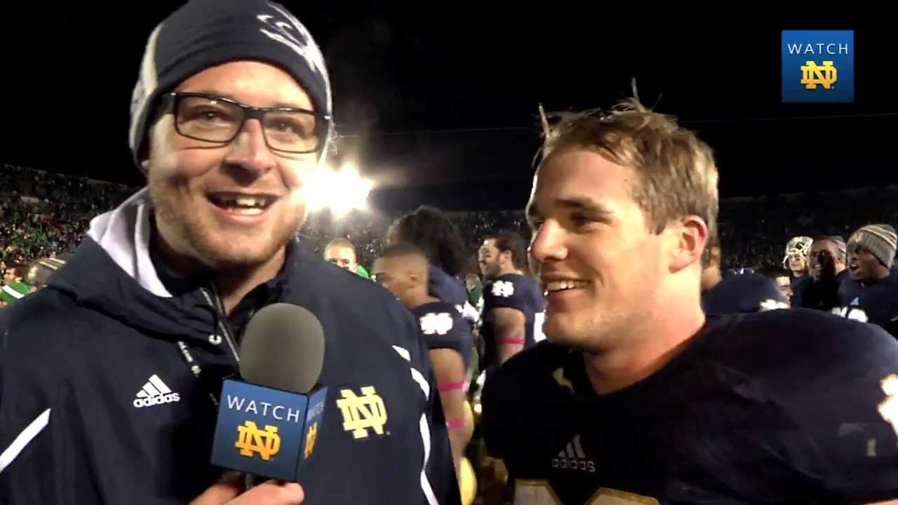 Joe Schmidt On-Field Interview - Notre Dame Football