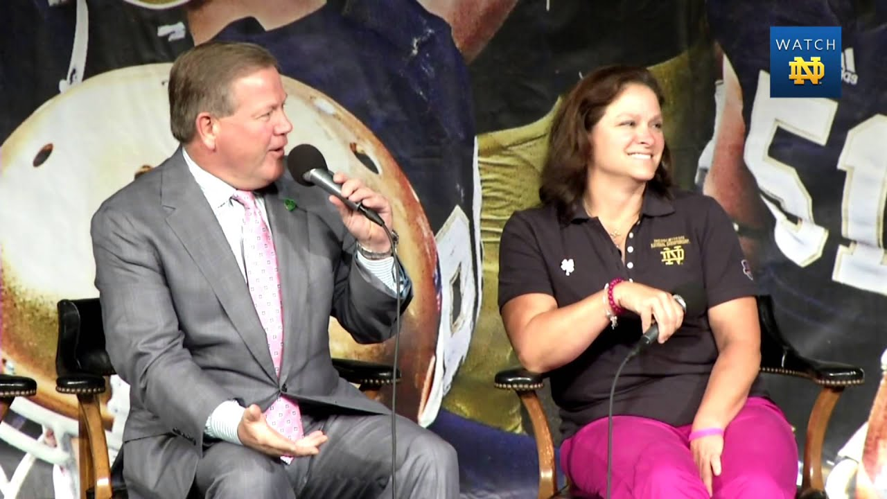 Football Luncheon USC - Paqui And Brian Kelly