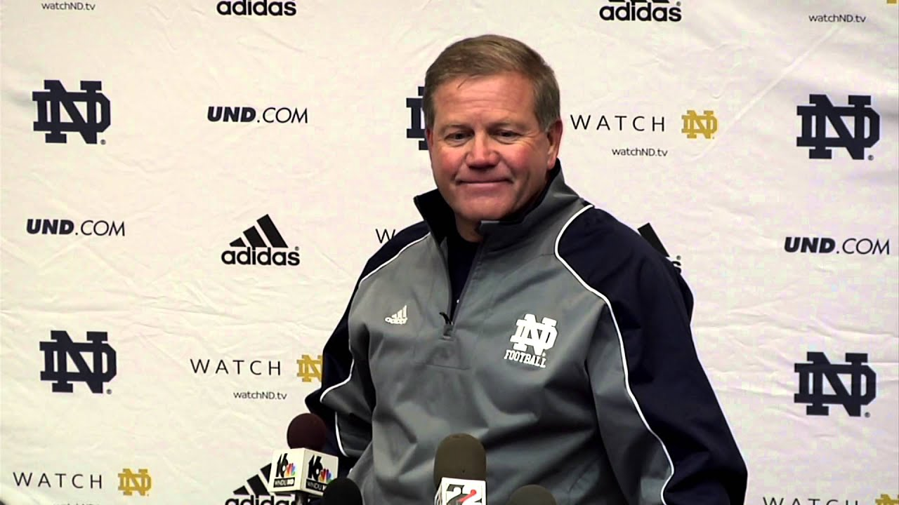 Coach Kelly Media Session - Oct. 17, 2013
